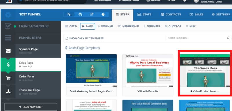 sales page templates in clickfunnels